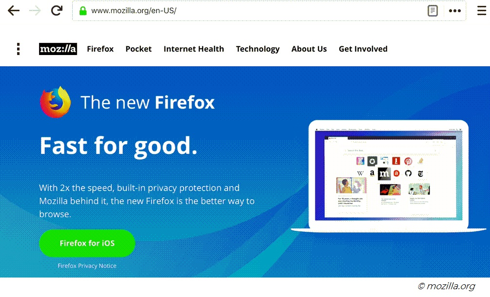 Tracking data protection with Mozilla for Firefox on iOS