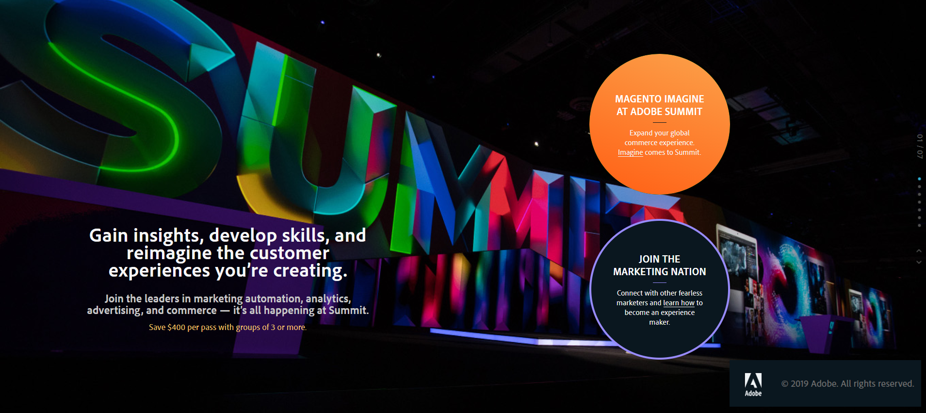 Adobe Summit 2020, Las Vegas, the digital conference.